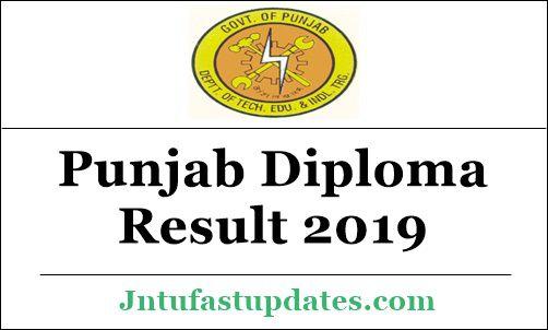 Punjab Diploma Result 2019 May/June - 2nd 4th 6th Sem PSBTE