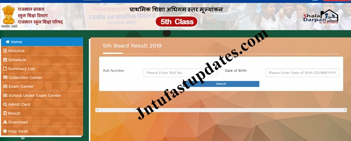 Rajasthan Board 5th Result 2019 District Wise Marks