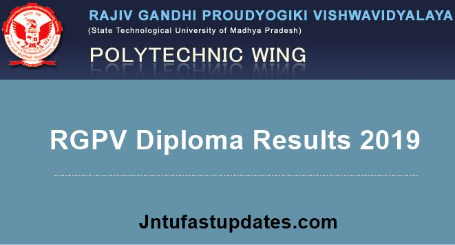 RGPV Diploma Results 2019 May/June (Released) For 1st, 2nd