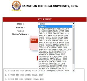 RTU B.Tech 3rd Sem Result 2019
