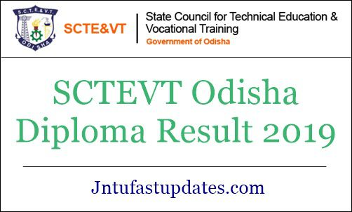 SCTEVT Odisha Diploma Result 2019 Summer (Released) - 1st
