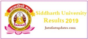 Siddharth University Results 2019