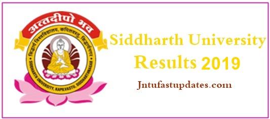 Siddharth University Results 2019