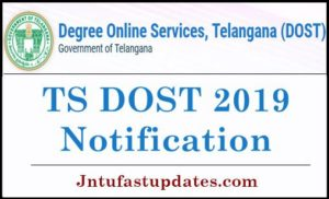 TS DOST Notification 2019