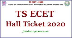 TS ECET Hall Ticket 2020