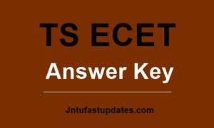 TS ECET answer key 2019
