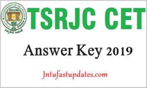 TSRJC Answer key 2019