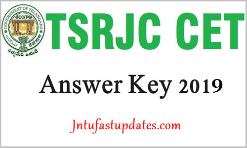 TSRJC Answer key 2019