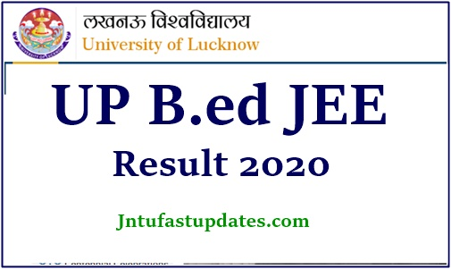 UP Bed jee result 2020