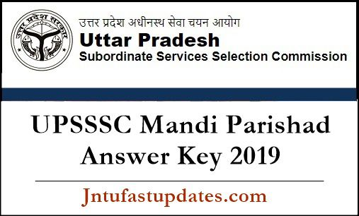UPSSSC Mandi Parishad Answer Key 2019