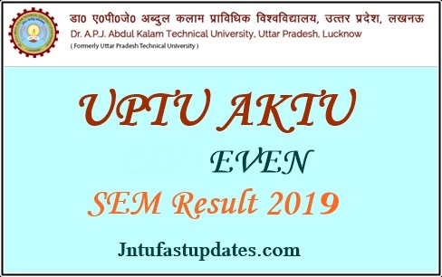 UPTU/AKTU Even Sem Result 2019 - 2nd 4th 6th 8th Semester Exam