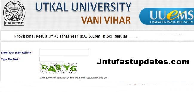 Utkal University Results 2019 For +3 Final Year