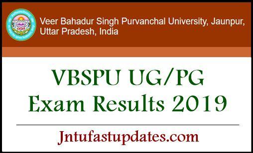 VBSPU UG PG Results 2019