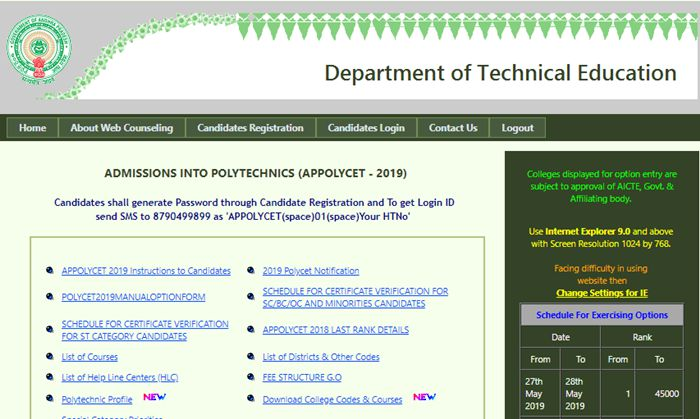 ap polycet seat allotment 2019