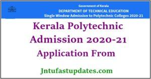 kerala polytechnic admission form 2020