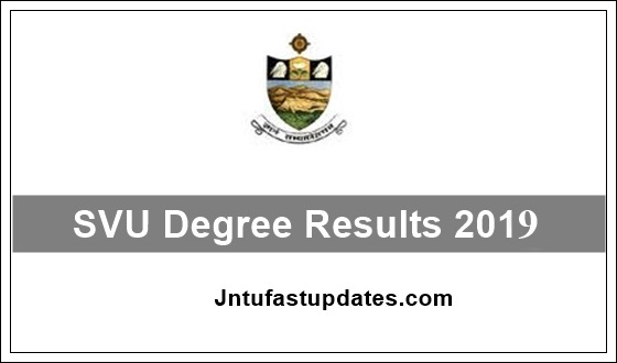 SVU Degree Results 2019 (Released) - UG 2nd, 4th, 6th Sem Results BA