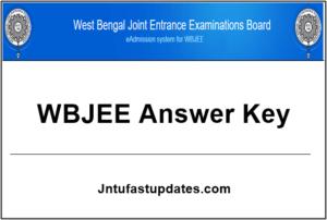 WBJEE Answer Key 2019