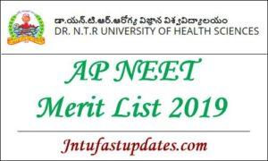 AP NEET Merit List 2019