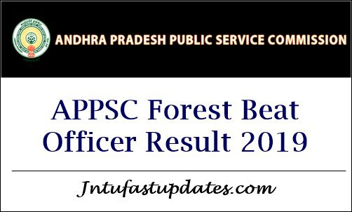 APPSC Forest Beat Officer Result 2019