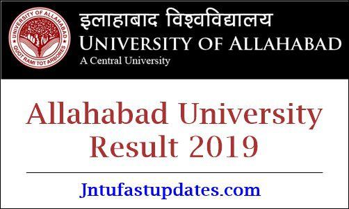 Allahabad University Result 2019