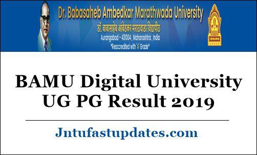 BAMU Digital University UG PG Result 2019