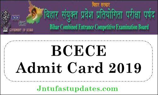 BCECE Admit Card 2019