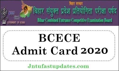 BCECE Admit Card 2020