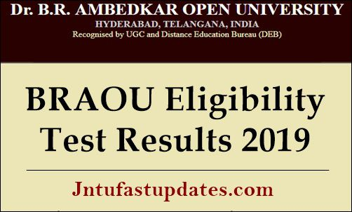 BRAOU Eligibility Test Results 2019