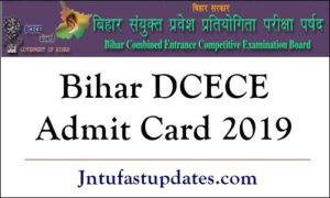 Bihar DCECE Admit Card 2019