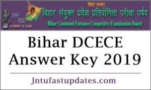 Bihar DCECE Answer Key 2019