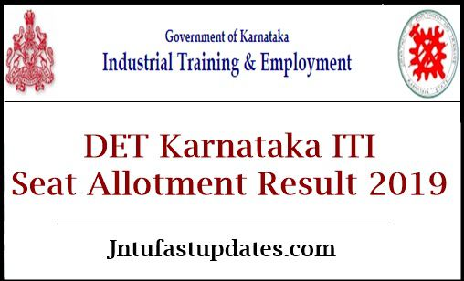 DET Karnataka ITI Seat Allotment Result 2019