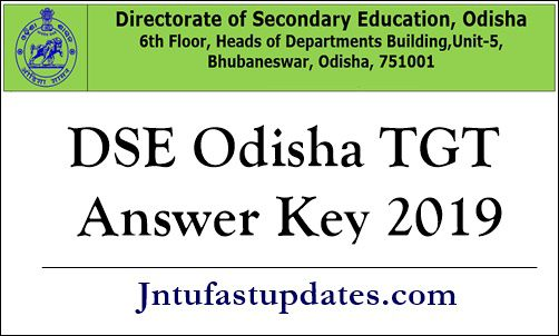 DSE Odisha TGT Answer Key 2019
