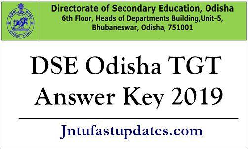 DSE Odisha TGT Answer Key 2019