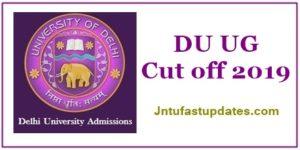 DU UG First Cutoff Marks List 2019