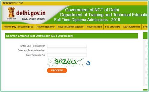 Delhi CET Polytechnic Results 2019
