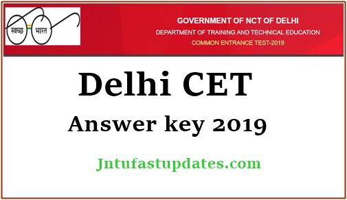 Delhi CET Answer Key 2019 - Delhi Polytechnic Test Solutions, OMR