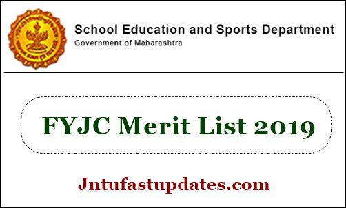 FYJC Merit List 2019