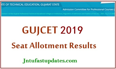GUJCET ACPC BE 1st Seat Allotment Result 2019