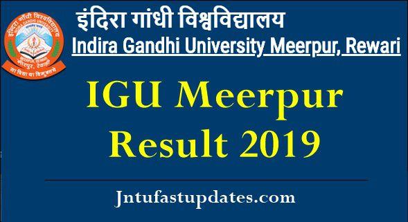 IGU Meerpur Result 2019