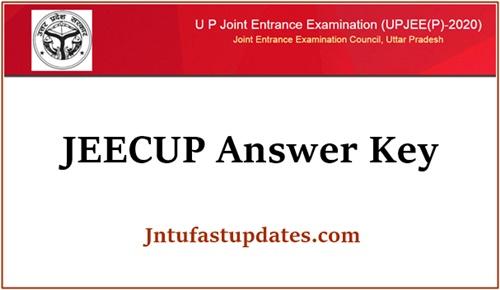 JEECUP Answer key 2020