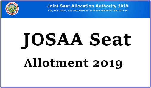 JoSAA Mock Seat Allotment Results 2019