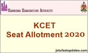 kcet seat allotment result 2020