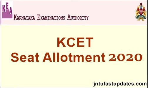 kcet seat allotment result 2020