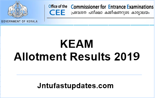 KEAM Trial Allotment 2019