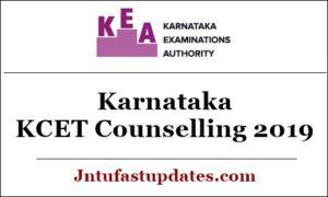 Karnataka KCET Counselling 2019