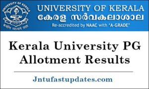 Kerala University PG First Allotment Results 2019