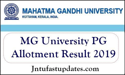 MG University PG Trial Allotment 2019