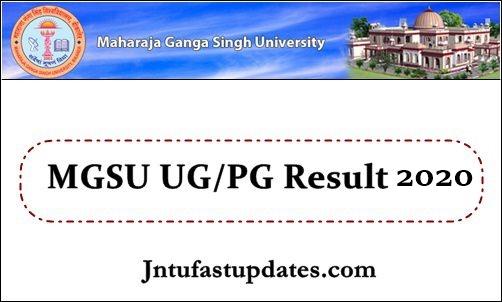 MGSU Result 2020