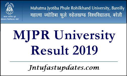MJPRU Result 2019