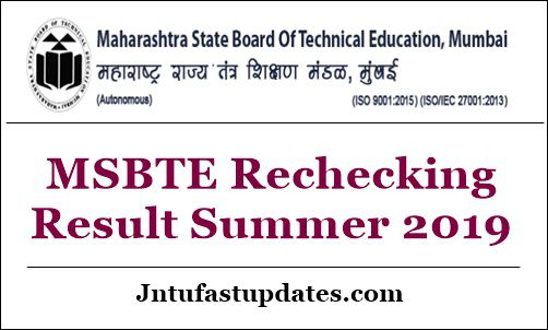 MSBTE Rechecking Result Summer 2019